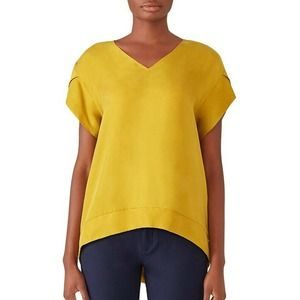 ELK Petal Sleeve Top XS Womens V-Neck Casual Crepe